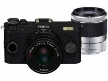 Pentax Q-S1 czarny + ob. 5-15 + ob. 15-45