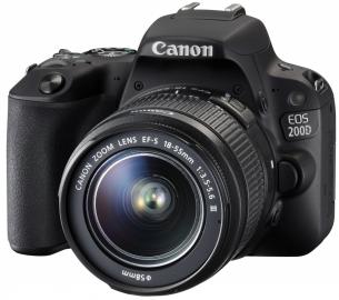 Canon EOS 200D + 18-55 DC czarny