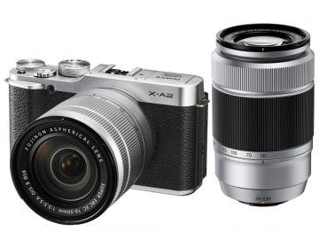 FujiFilm X-A2 srebrny + ob. XC 16-50mm + 50-230mm + torba Crumpler Messenger Boy 3000 antracyt GRATIS