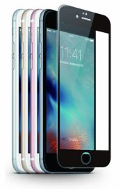 JCPAL Szkło ochronne 0,15mm iPhone 6 / 6s na cały ekran (czarna ramka)