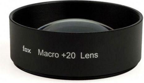 FoxFoto Soczewka makro +20 dioptrii 55mm