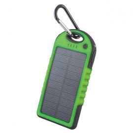 Forever Power Bank solarny 5000 mAh zielony