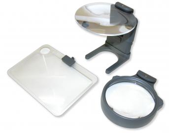 Carson HM-30, powiększenie 2x, 2.5x, 3.5x, wymienne soczewki, podświetlenie LED
