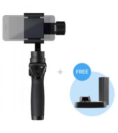 DJI Gimbal Ręczny Osmo Mobile czarny + dodatkowy akumulator + podstawka