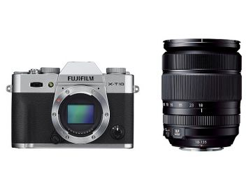FujiFilm X-T10 srebrny + ob. XF 18-135 mm