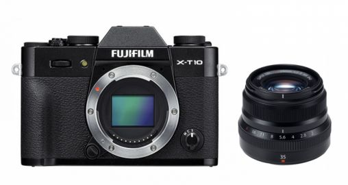 FujiFilm X-T10 czarny + ob XF 35 mm f/2 R WR