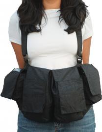 Newswear Womens Medium Chestvest - szelki z pokrowcami damskie czarne