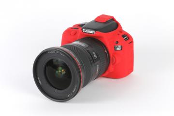 EasyCover osłona gumowa dla Canon 100D/SL1 czerwona