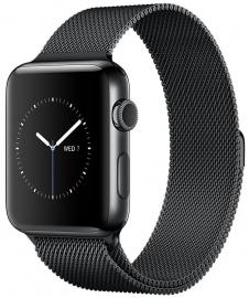 Apple Watch Series 2 38mm ze stali nierdzewnej w kolorze gwiezdnej czerni z bransoletą mediolańską w kolorze gwiezdnej czerni