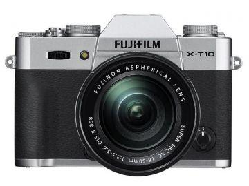 FujiFilm X-T10 srebrny + ob. XC 16-50mm + karta Sandisk 16 GB 80MB/s GRATIS