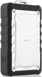 Aukey PB-P1 Power Bank 7500mAh wytrzymały, latarka, srebrny