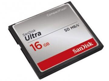 Sandisk CompactFlash 16 GB Ultra 50MB/s