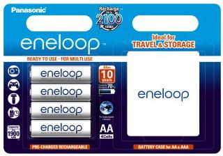 Panasonic Eneloop AA 1900 mAh 2100 cykli 4szt. + futerał