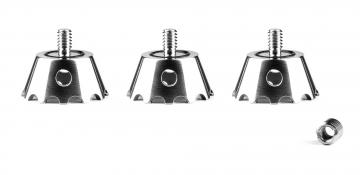 3 Legged Thing Clawz - zestaw 3 pazurów do nóg (kompatybilne z gwintem 1/4 oraz 3/8 cala)