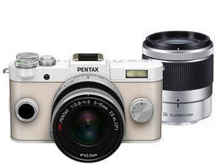 Pentax Q-S1 biały + ob. 5-15 + ob. 15-45