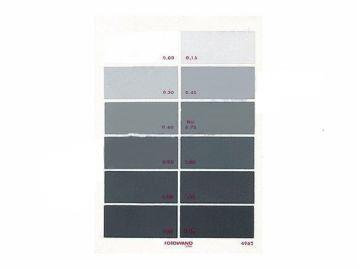 Fotowand 808897 Karta odcienie szarości 12 pól A5 kalibrator kolorów