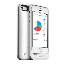 Mophie Space Pack 16 GB - etui z baterią 1700 mAh i wbudowaną pamięcią do iPhone 5/5s/SE (biała)