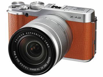 FujiFilm X-A2 brązowy + ob. XC 16-50 mm