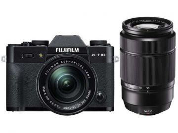 FujiFilm X-T10 czarny + ob. 16-50 mm + 50-230 mm + karta Sandisk 16 GB 80MB/s GRATIS