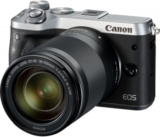 Canon EOS M6 + ob. 18-150 IS STM srebrny