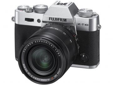 FujiFilm X-T10 srebrny + ob. XF 18-55 mm