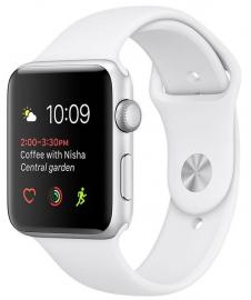 Apple Watch Series 2 38mm aluminium w kolorze srebrnym z paskiem sportowym w kolorze białym