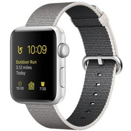 Apple Watch Series 2 38mm aluminium w kolorze srebrnym z paskiem z plecionego nylonu w kolorze perłowym