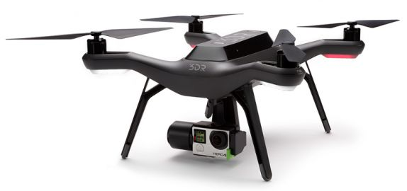 3DR Dron Solo + gimbal pod GoPro