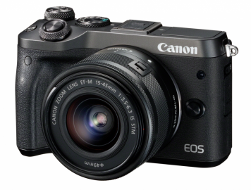 Canon EOS M6 + ob. 15-45 IS STM + ob. 55-200 IS STM czarny