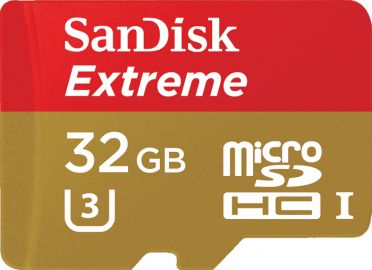 Sandisk microSDHC 32GB Extreme 90MB/s U3 UHS-I  + SD Adapter + Rescue Pro Deluxe