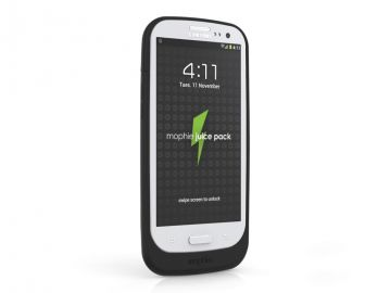 Mophie Juice Pack Galaxy S3 (kolor czarny) - obudowa ochronna z wbudowaną baterią (2300 mAh) dedykowana dla Samsung Galaxy 3