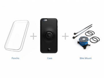 Quad Lock zestaw rowerowy do iPhone 5/5S/SE (uchwyt+etui+pokrowiec przeciwdeszczowy)