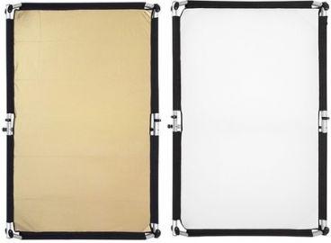Fomei Materiał Gold-Silver/White 150x200cm