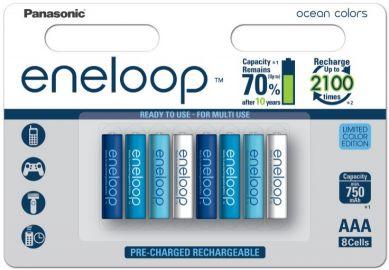 Panasonic Eneloop Ocean Colors AAA 750 mAh 2100 cykli 8szt. - edycja limitowana