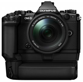 Olympus OM-D E-M5 Mark II + ob. 14-150 II czarny + grip HLD-8 + bateria BLN-1
