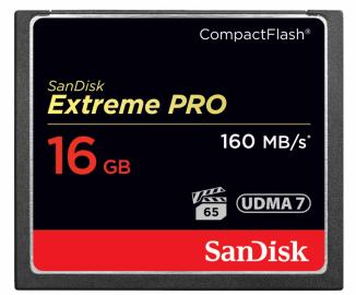 Sandisk CompactFlash EXTREME PRO 16 GB 160 MB/s