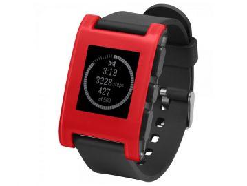 Pebble Original - zegarek dla urzadzeń z systemem iOS oraz Android (wersja cherry red)