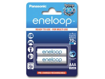 Panasonic Eneloop AAA 750 mAh 2100 cykli 2szt.