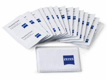 Carl Zeiss 20 chusteczek nawilżanych + ściereczka z mikrofibry 18x18cm