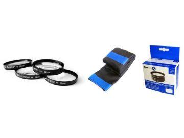 FoxFoto Zestaw soczewek makro +1, +2, +4, +10 dioptrii 52mm