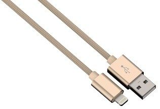 Hama kabel color line, lightning aluminium, 1m złoty