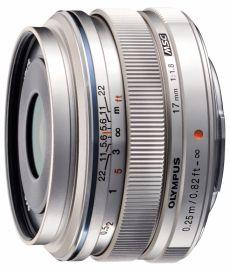 Olympus M.ZUIKO DIGITAL ED 17 mm f/1.8 srebrny