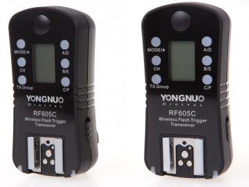 Yongnuo RF-605C zestaw 2 nadajników/odbiorników (stopka Canon)