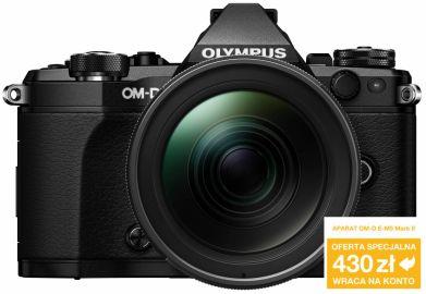 Aparat cyfrowy Olympus OM-D E-M5 Mark II czarny + ob. 12-40 PRO czarny (Gdańsk)