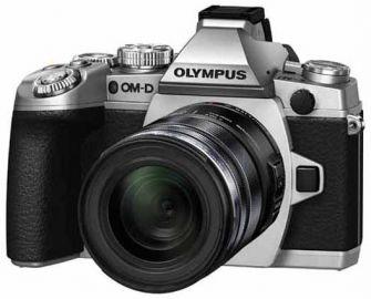 Olympus OM-D E-M1 srebrny + ob. 12-50 czarny