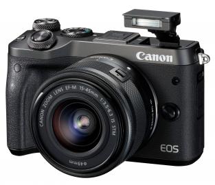 Canon EOS M6 + ob. 15-45 IS STM czarny
