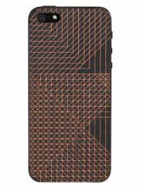 LAZERWOOD ANDY GILMORE CELL - drewniana skórka ciemna na tył iPhone 5/5S