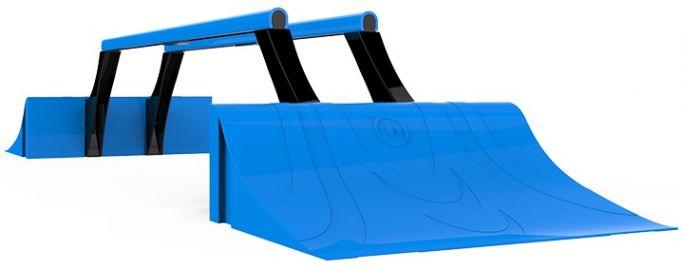 Sphero Terrain Park - zestaw ramp do wyczynowej jazdy Ollie lub Sphero, niebieskie