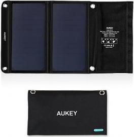 Aukey PB-P3 Ładowarka solarna/słoneczna 14W 2xUSB