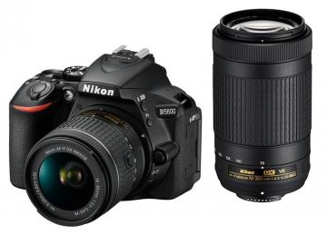 Nikon D5600 + 18-55 AF-P VR + 70-300 VR - CASHBACK 215 PLN